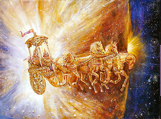 Beautiful picture of Shri Krishna Riding his carriage