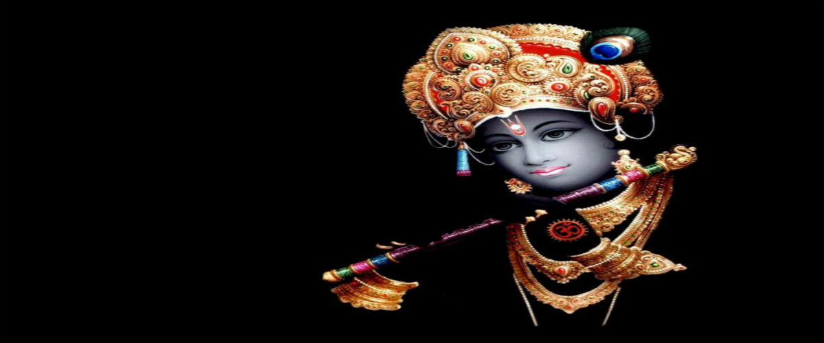 Hare Krishna Picture in black
