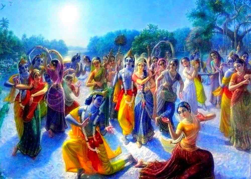 Radha krishna material and spiritual love