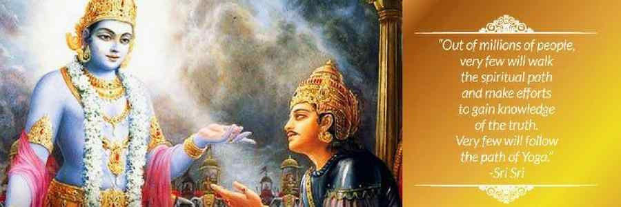 krishna with Arjuna with description into it