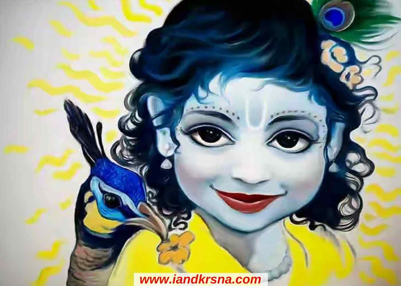 Painting of Little Child krishna