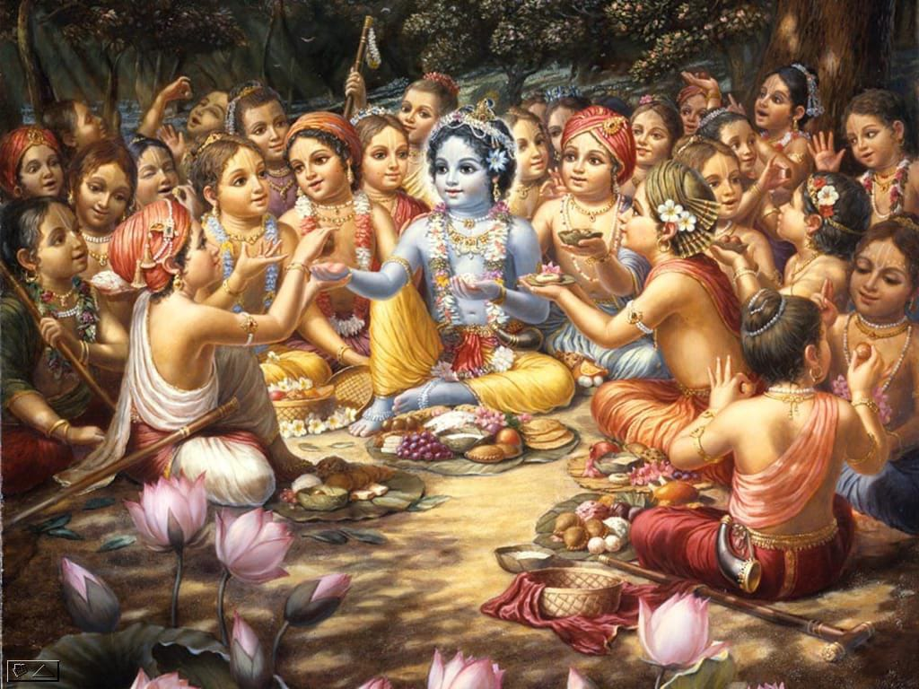 little krishna with his loved ones