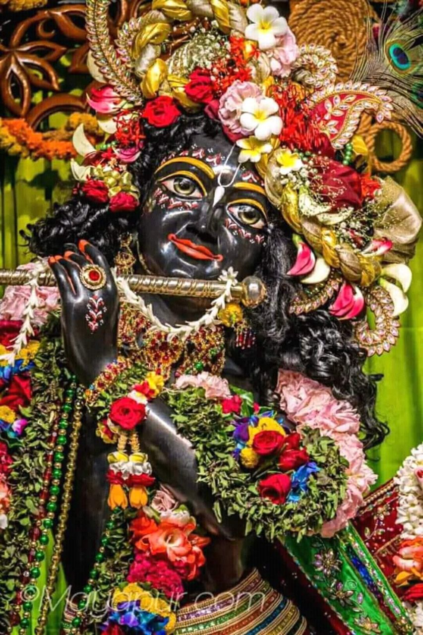 Full Krishna statue in Black