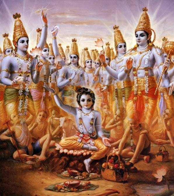 The polestar, called Dhruvaloka , Little Lord Krishna with Avataras